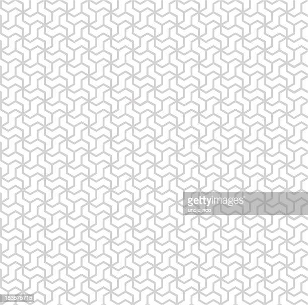 White and gray rhombic seamless pattern