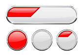 White and red buttons