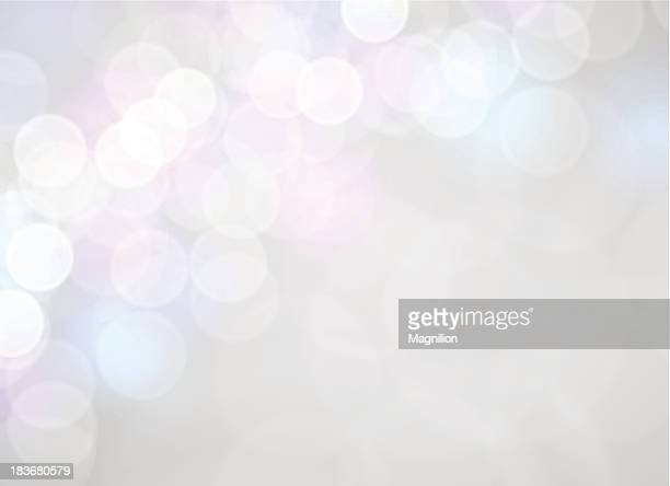 White and silver abstract bokeh background