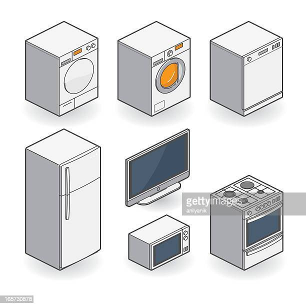 white appliances - isometric