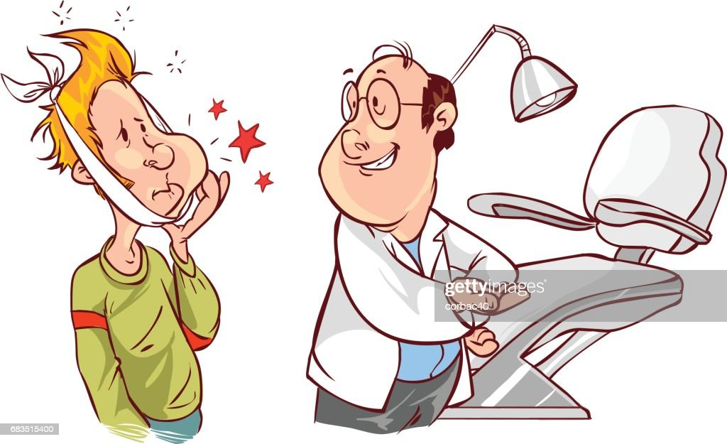 white backround Vector illustration of a dental and patients