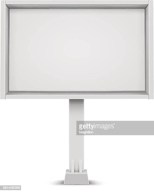 ホワイトのビルボード/看板
