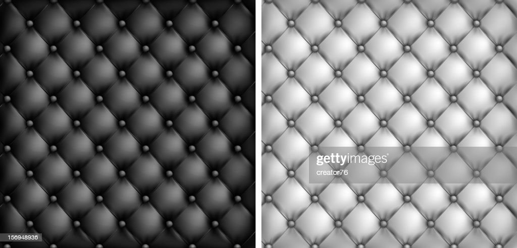 White Black Leather Upholstery Background Vector Art Getty Images