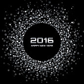 White - Black New Year 2016 Background