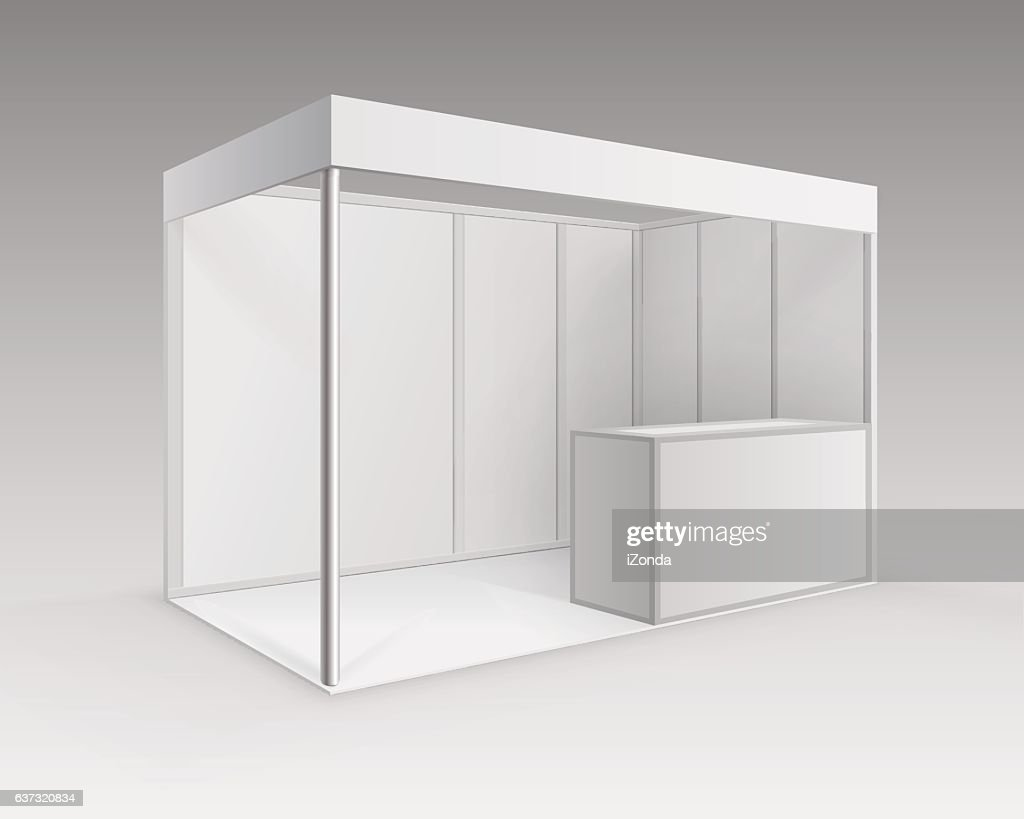 White Blank Indoor Trade exhibition Booth Standard Stand for Presentation