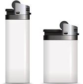 White blank lighters