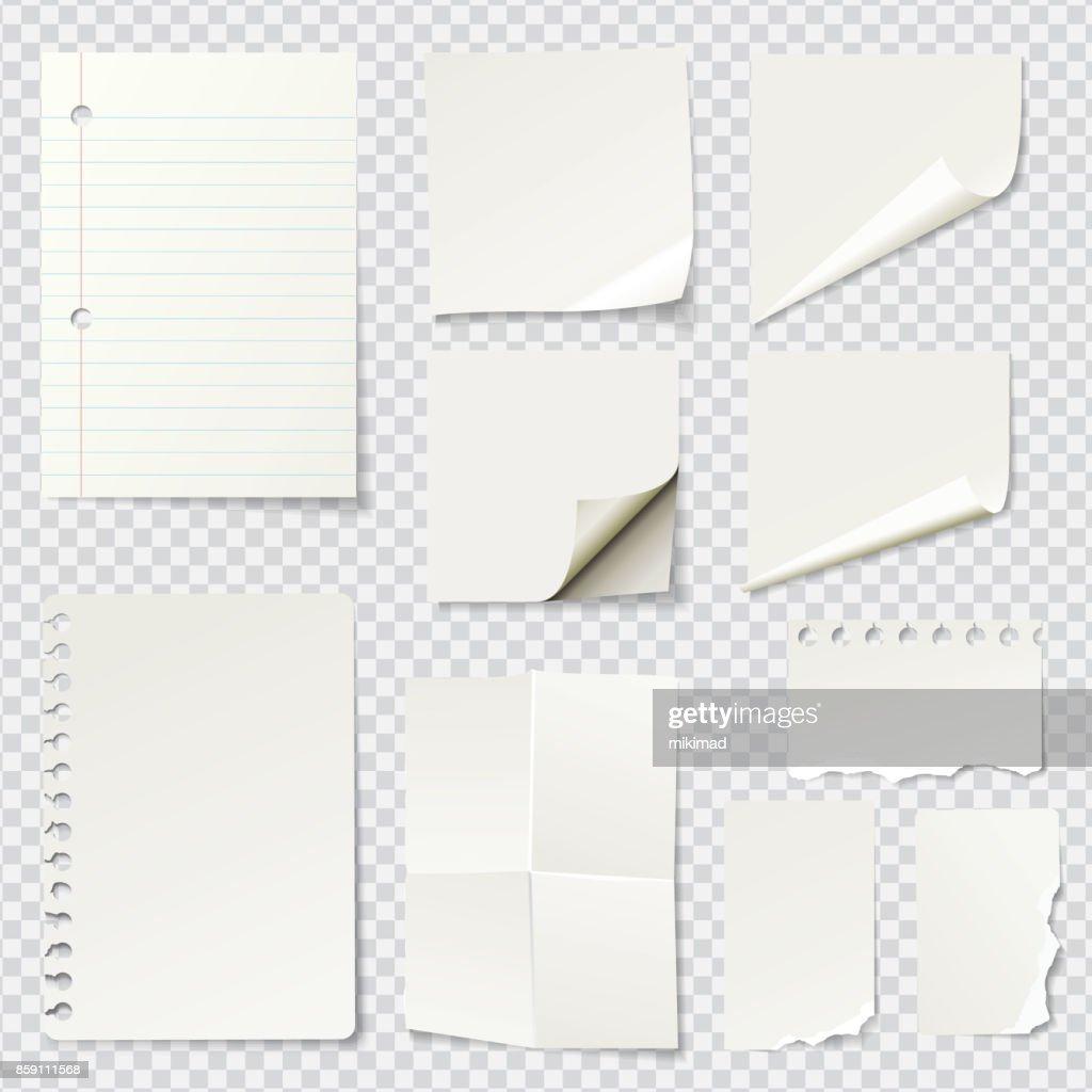 White Blank Paper Notes : stock illustration
