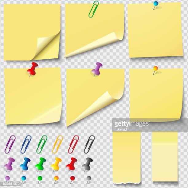 Weiße Blankopapier Notizen