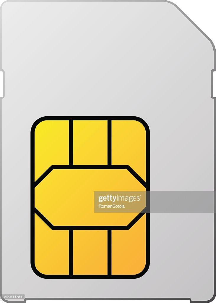 white blank sim card