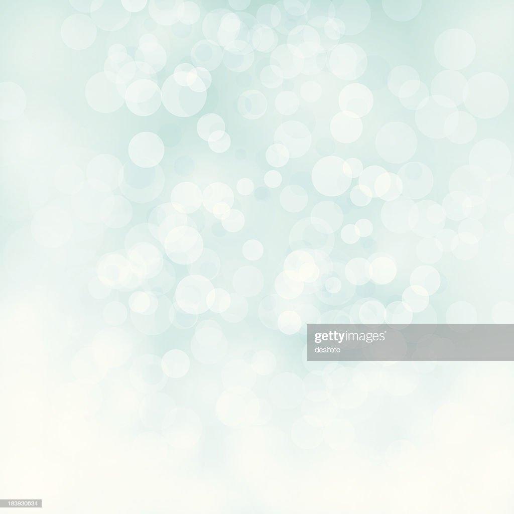 White bokeh on pale green vector background : stock illustration