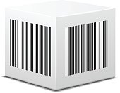 White box with bar code