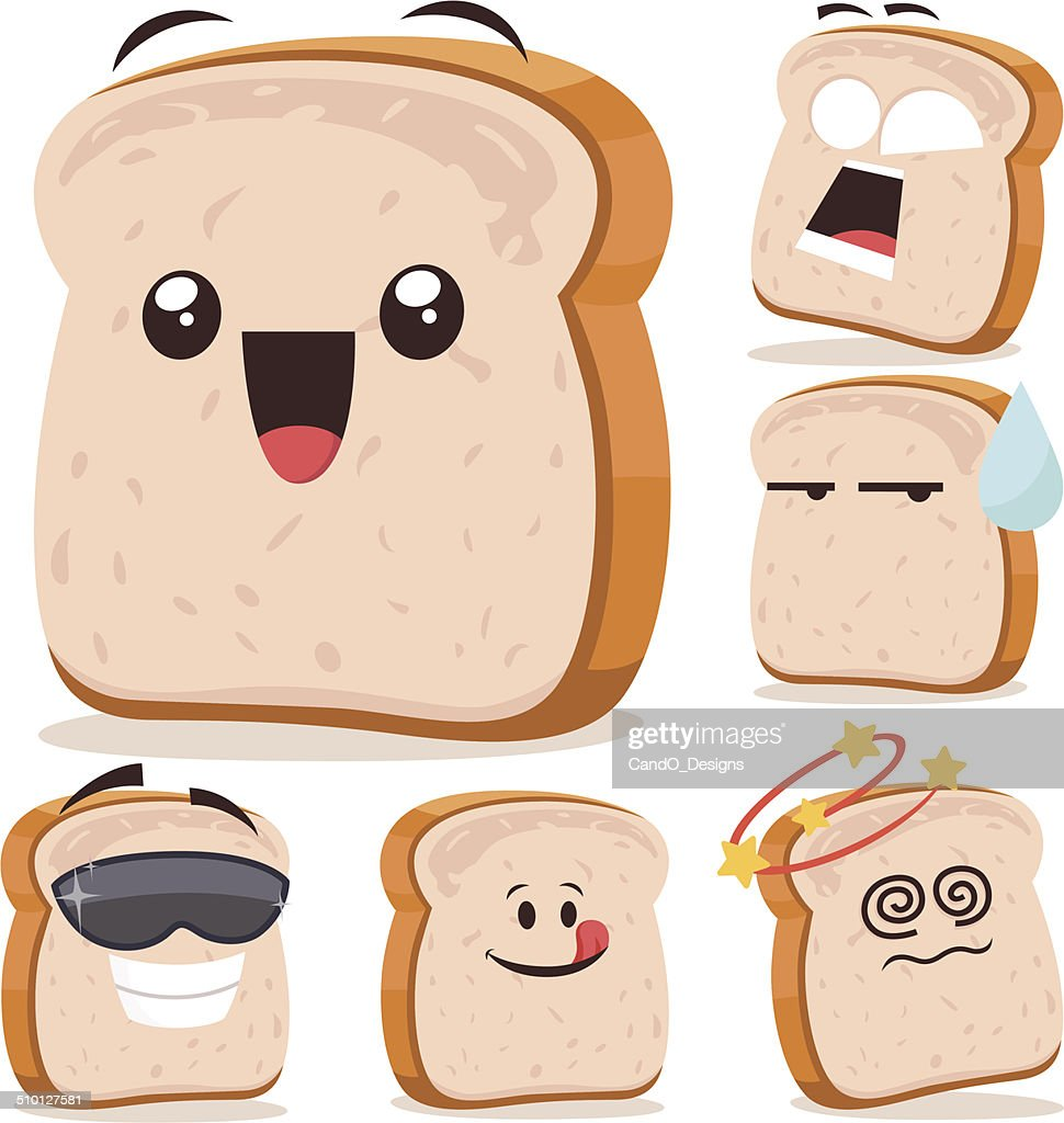 White Bread Cartoon Set A