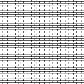 White brick wall background. Vector illustration