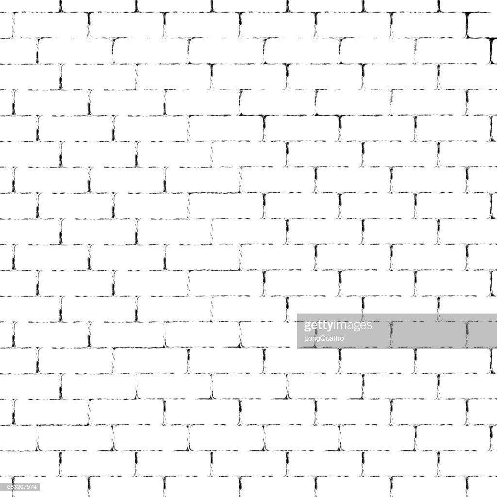 White brick wall silhouette