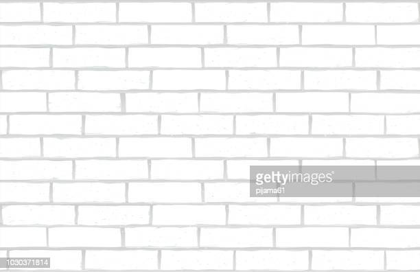 illustrazioni stock, clip art, cartoni animati e icone di tendenza di white brick wall - mattone