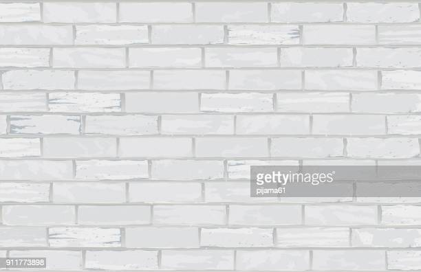 white brick wall - brick stock illustrations