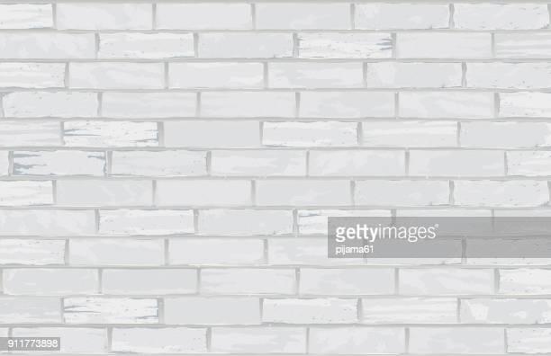 illustrations, cliparts, dessins animés et icônes de mur de briques blanches - mur de briques