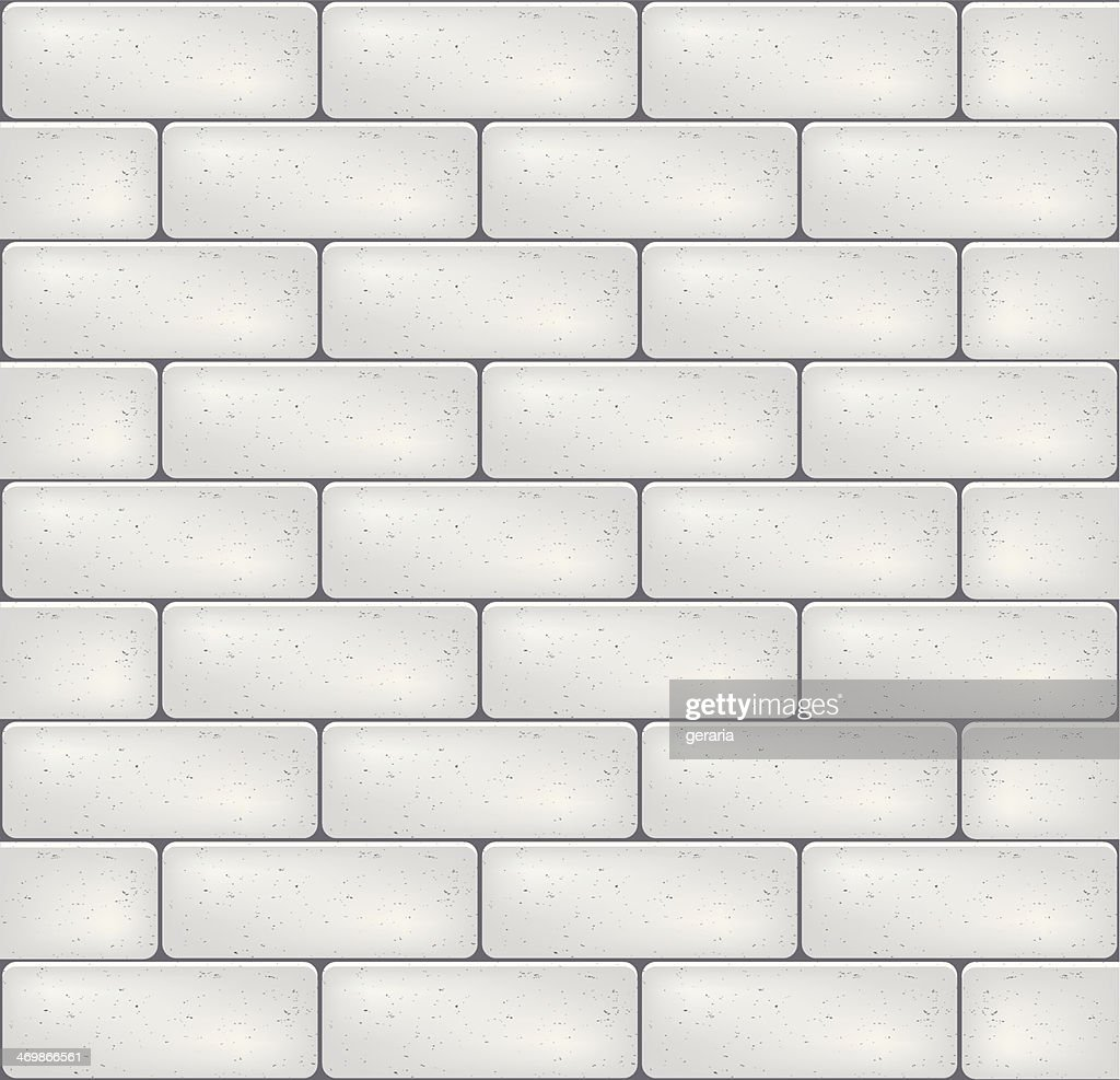 White brick wall. Vector.