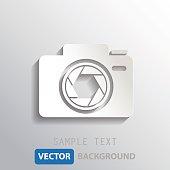 white camera shutter background, vector eps10