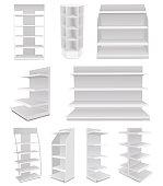 White Cardboard Blank Empty Displays