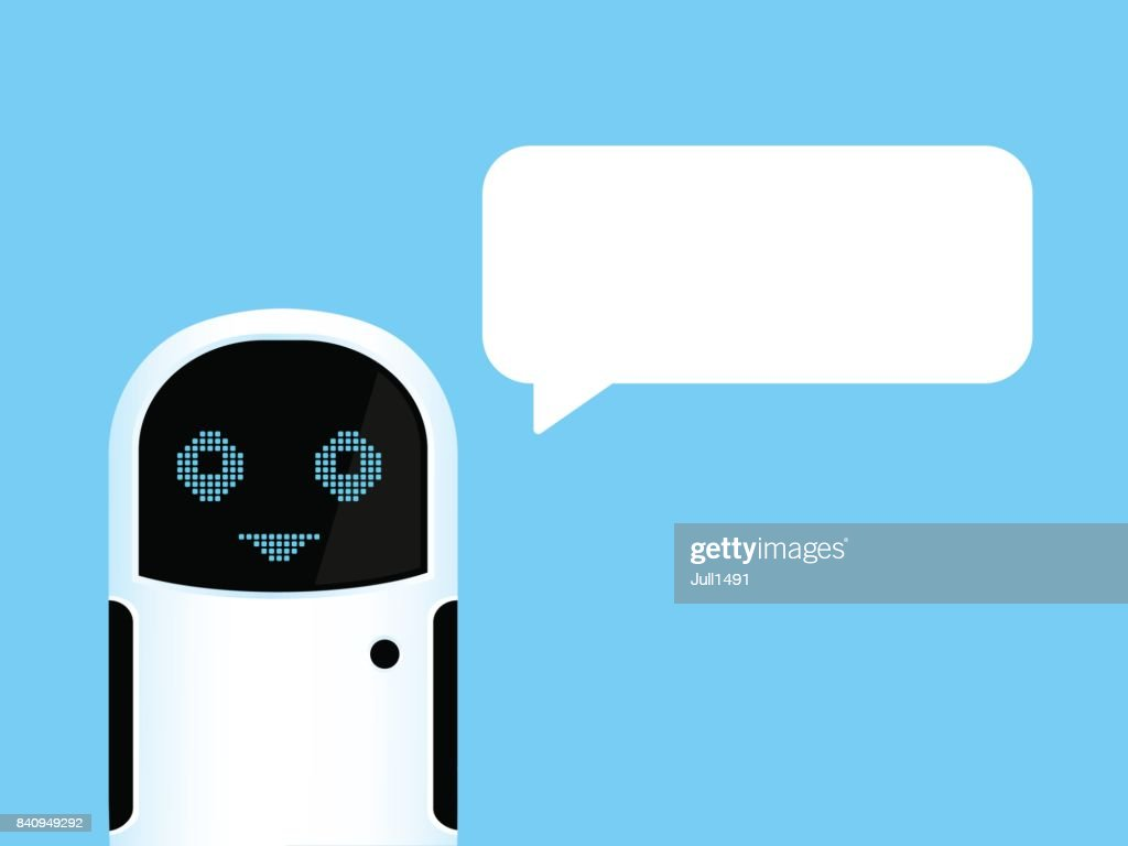 White Chat bot respond to the message.