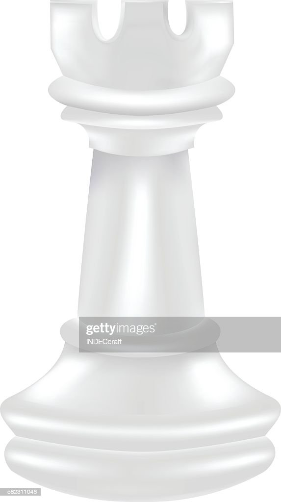 White Chess Piece Rook stock illustration - Getty Images