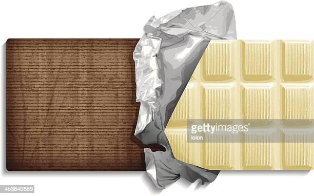 white chocolate bar - milk chocolate stock illustrations, clip art, cartoons, & icons