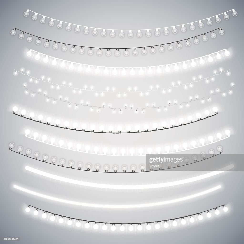White Christmas Electric Garlands Set