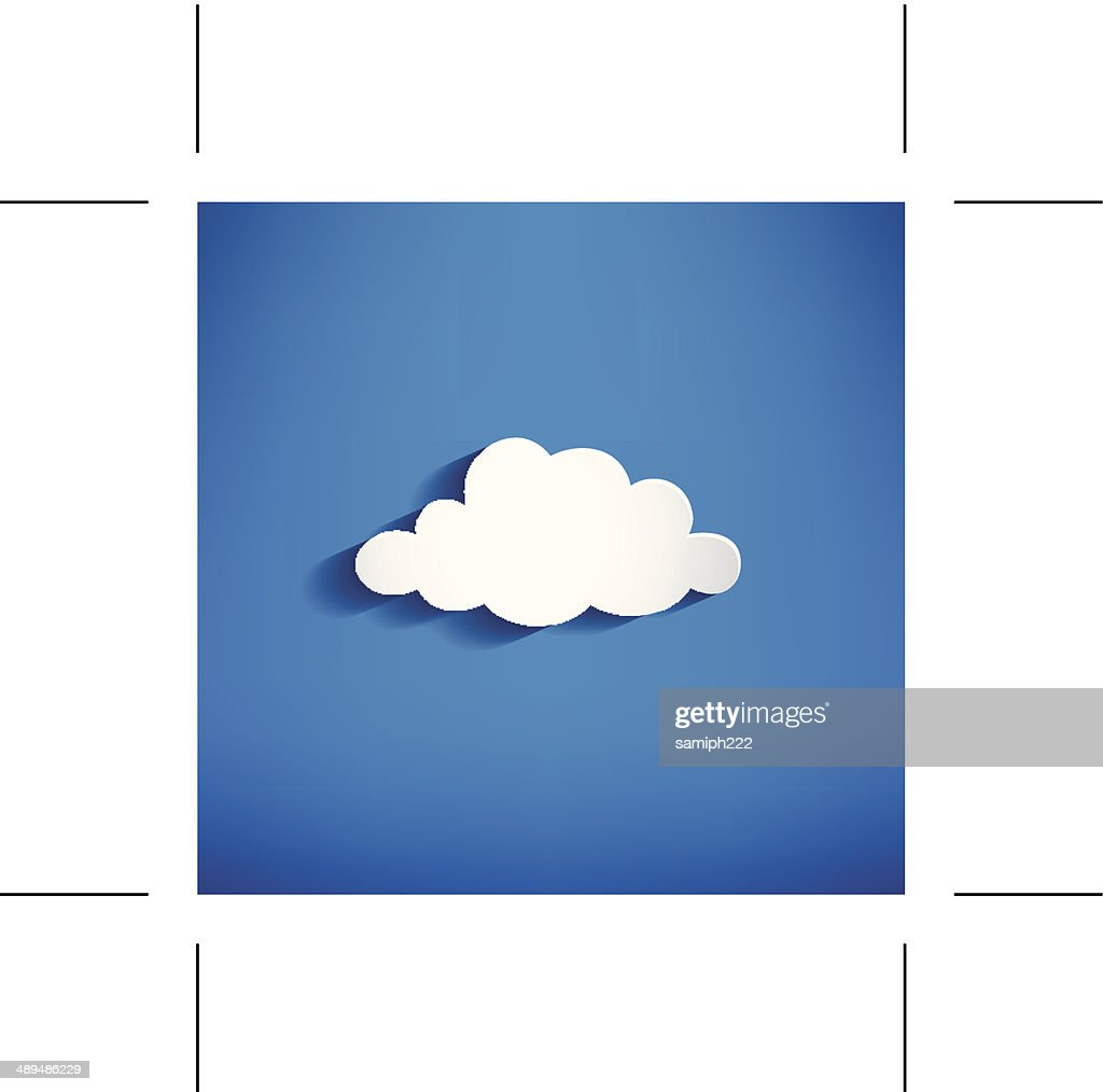 white cloud  - Illustration