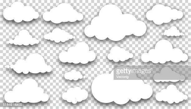 青い背景に白い雲 - セルビア点のイラスト素材/クリップアート素材/マンガ素材/アイコン素材