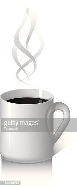 ホワイトコーヒー、マグ - black studio点のイラスト素材/クリップアート素材/マンガ素材/アイコン素材