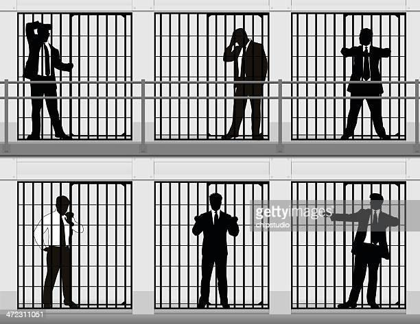 white collar criminals - arrest stock illustrations, clip art, cartoons, & icons