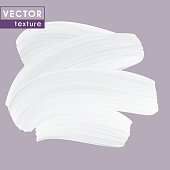 White color Cream texture, isolated vector smear