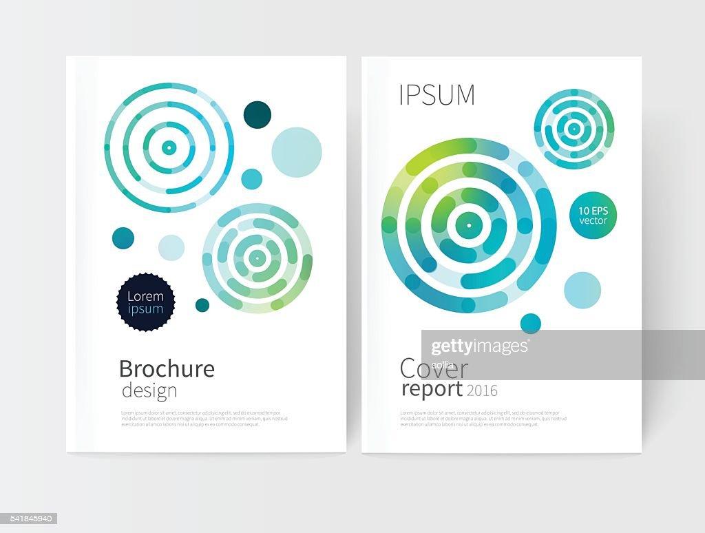 White cover brochure