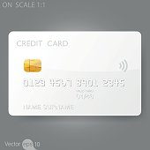 White credit card template