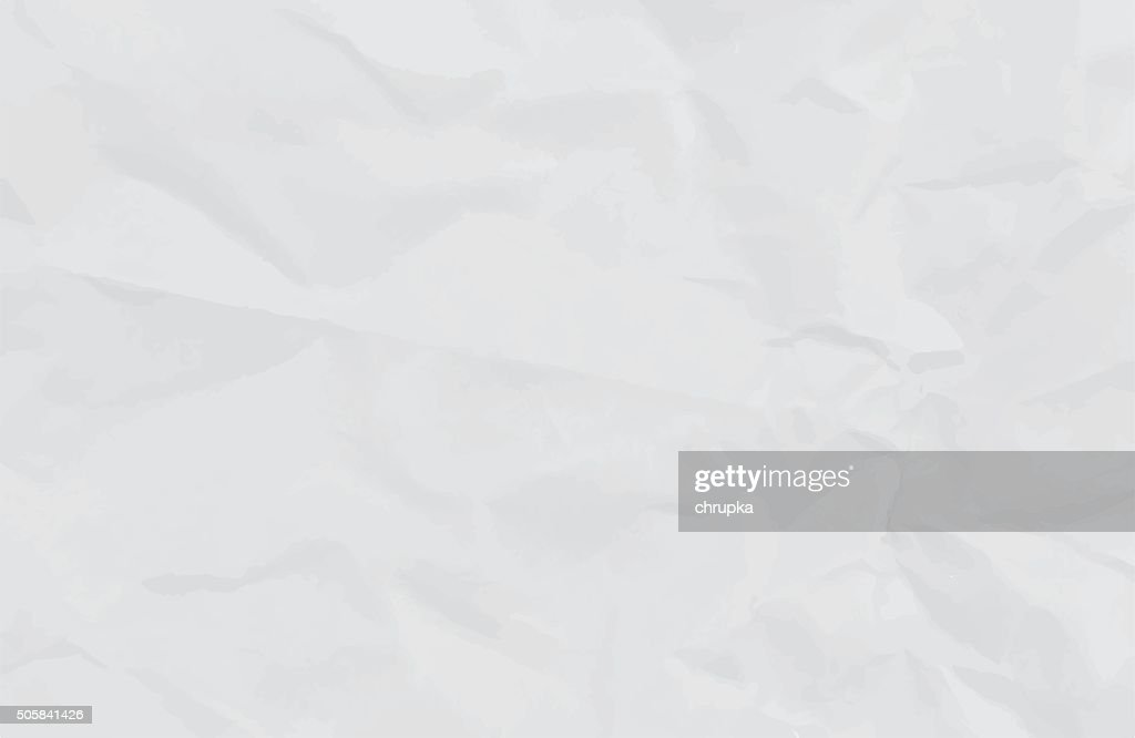 white crumpled paper background or texture