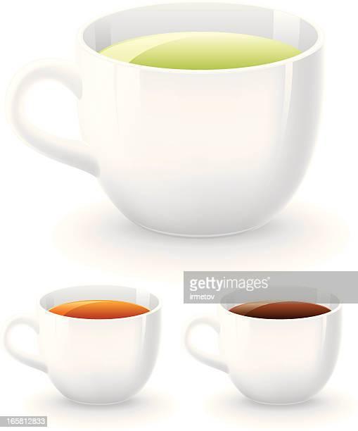 ホワイトのカップ - ハーブティー点のイラスト素材/クリップアート素材/マンガ素材/アイコン素材