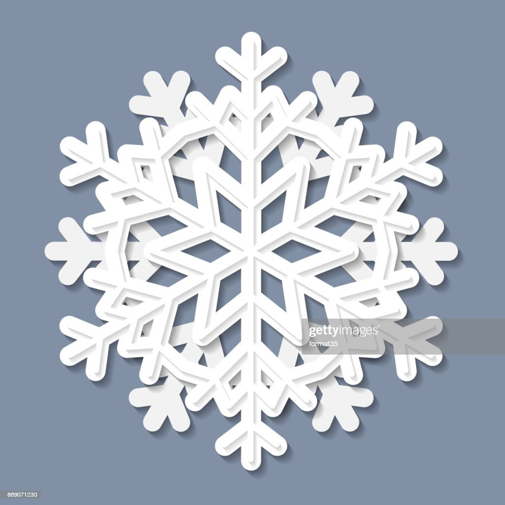 White decorative snowflake