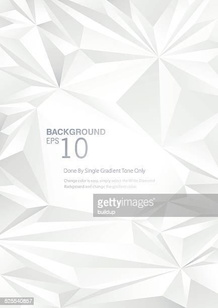 white diamond low poly background - diamond shapes stock illustrations, clip art, cartoons, & icons