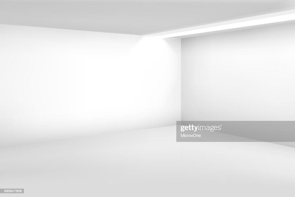 Weißen Leeren Raum 3d Moderne Leeren Innenraum Vektorhomehintergrund