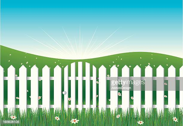 White Fence with Gate