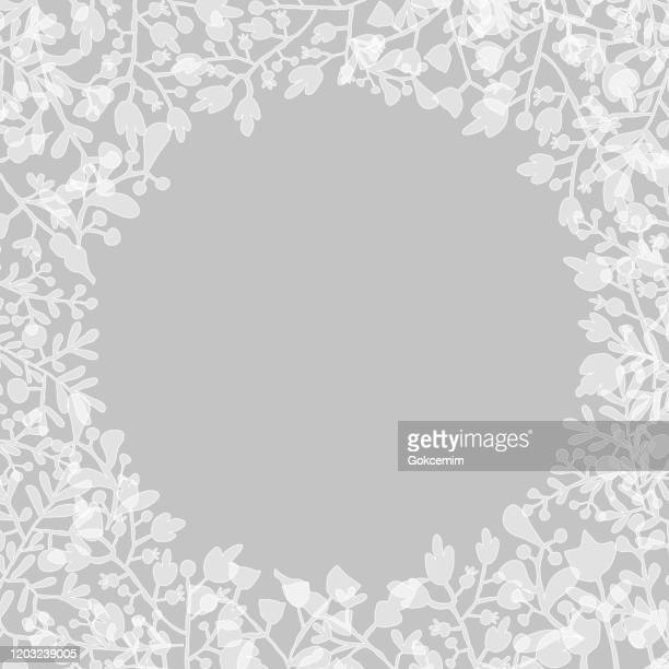 white floral lace frame background. elegant template for  greeting cards (birthday, valentine's day), bridal shower, wedding and engagement invitation cards. - femininity stock illustrations