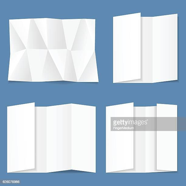 white folded paper - crumpled stock illustrations