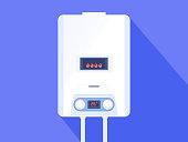 White gas boiler water heater