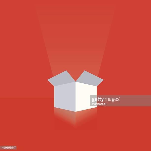 ilustrações, clipart, desenhos animados e ícones de caixa de presente branca - aberto