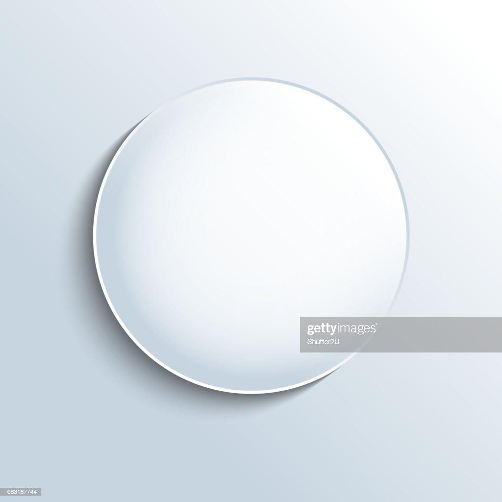 White glass sphere shape button