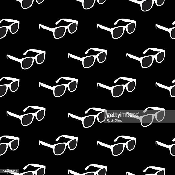 white glasses pattern - ophthalmology stock illustrations, clip art, cartoons, & icons
