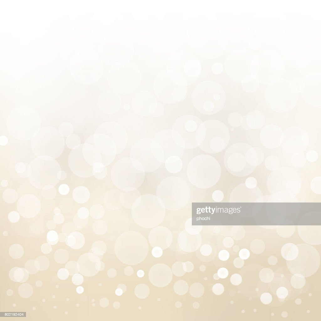 white gold light background abstract design vector blur circle bokeh.