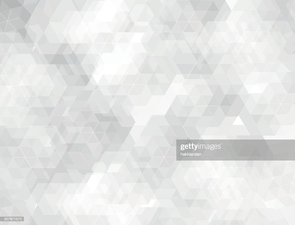 White & grey geometric shapes background