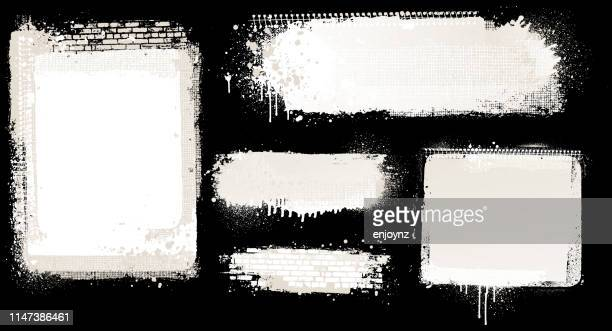white grunge backgrounds - wall building feature stock illustrations